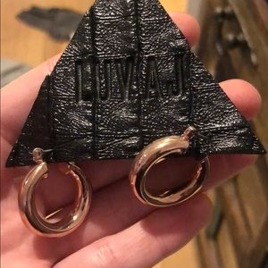 Luv AJ Rose gold earrings